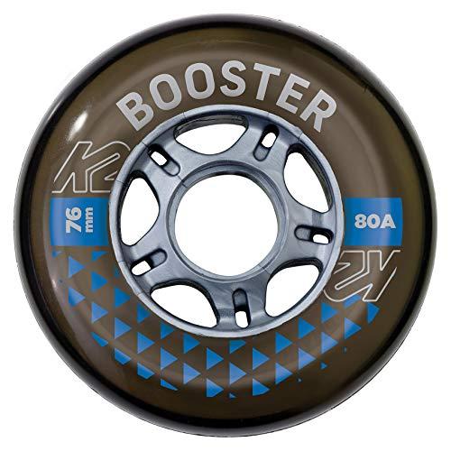 K2 Skates Unisex– Erwachsene Rollen Booster 76MM 80A 4-Wheel Pack — Black — 76mm — 30F3004