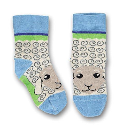 UBANG babblechat Socken Ankle Socks Talkie SCHAF hellblau Schuhgröße 18-20