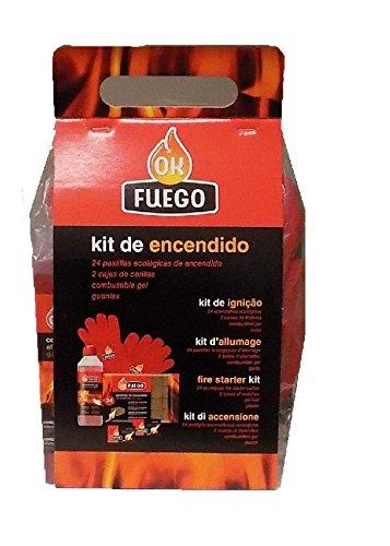 OK FUEGO Kit Encendido Chimenea (24...