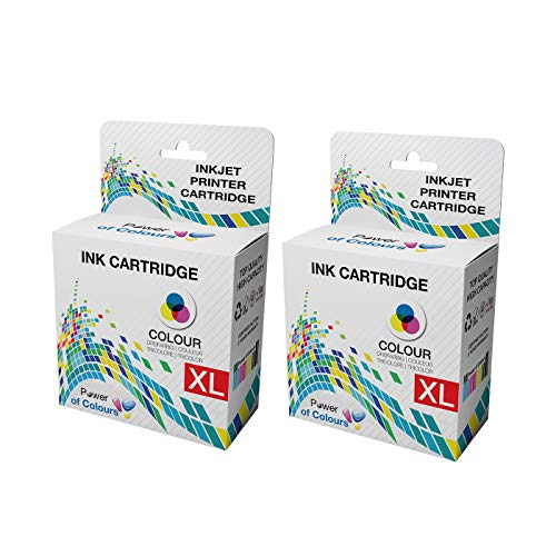 2x Colour Ink Cartridges Replacement for Dell Dell Series 21 Colour ll-In-One P513W, P713W, V313, V313W, V513W, V515W, V51, V715W
