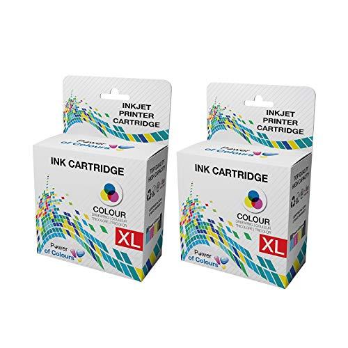 2 Compatible Dell Series 21 Colour Ink Cartridges for Dell P513W P713W V313 V313W V513W V515W V51 V715W