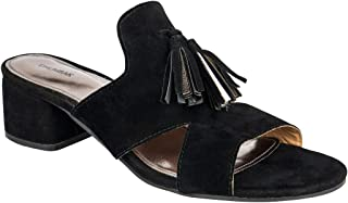 Chumbak Black Tassel Embellished Block Heels