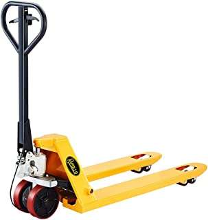 ApolloLift Manual Pallet Jack Truck with Brake System 5500lbs Capacity 48