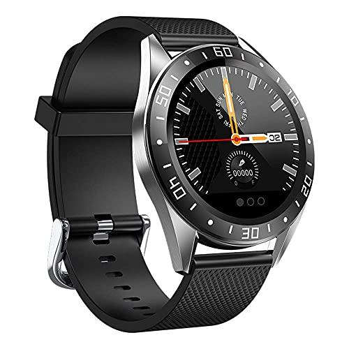 KDMB Reloj Inteligente Aleación de Zinc Reloj Inteligente Frecuencia cardíaca Presión Arterial Oxígeno sanguíneo Sueño Monitoreo de la Salud Información Inteligente Recordatorio Podómetro WatchC