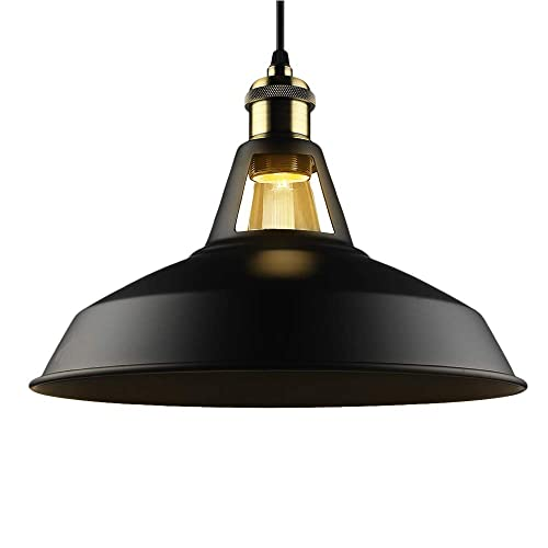 Industrial lamp shades Black B2ocled Black Ceiling Lights Metal Lamp Shades Industrial Pendant Light Ceiling Lighting Shade 27cm Diameter Amazon Uk Industrial Lamp Shade Amazoncouk