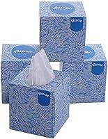 KLEENEX® Facial Tissue Cube 60042-2 ply Face Tissue - 4 Tissue Boxes x 80 Facial Tissues - Sheet Size 21 x 21 cm (320...