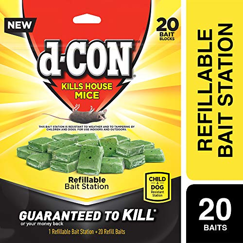 D-Con Corner Fit Mouse Poison Bait Station with 1 Trap and...