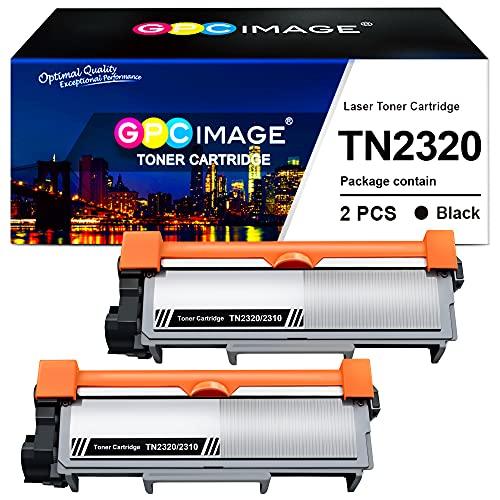 GPC Image TN2320 TN2310 TN-2320 TN-2310 Compatible Cartuchos de tóner Reemplazo para Brother HL-L2340DW HL-L2360DN MFC-L2700DW DCP-L2520DW HL-L2365DW MFC-L2740DW MFC-L2720DW DCP-L2540DN (2 Negro)