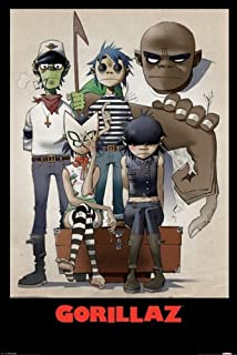 Music - Alternative Rock Posters: Gorillaz - All Here - 35.7'x23.8'