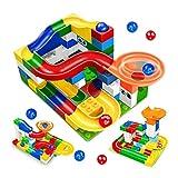 BAU Marble Run Rennen Maze Balls Spur Building Blocks Big Size Educational Bricks Mi MianYangShiFuChengQuShiHuDengJu