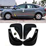 Nologo Royal Star TY Mud Flaps Coche Set 4 Piezas de vehículos Guardabarros Guardabarros Guardabarros Delantero y Trasero Suaves ABS Mudflaps for 2005-2011 Ford Focus 2 MK2 5dr HB