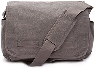 Classic Messenger Bag - Vintage Canvas Shoulder Bag for All-Purpose Use