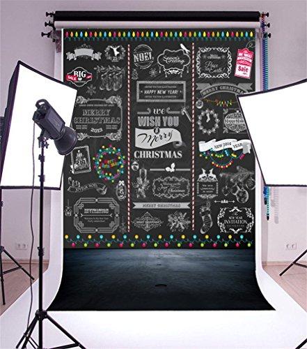 YongFoto 1x1,5 m vinyl foto achtergrond Kerstmis ballen slinger abstracte muur vintage troebele bodem Vrolijk jaar fotografie achtergrond voor fotoshooting portretfoto's party bruiloft rekwisieten