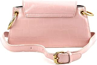 Odette Baby Pink Textured Envelope Clutch