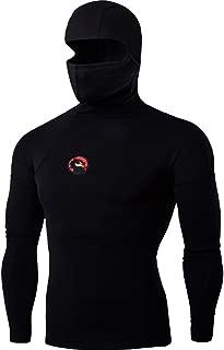 Cottory Men's Ninja Style Activewear Pullover Hoodie Sweatshirt
