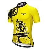 Weimostar - Maillot deportivo de ciclismo para hombre, de manga corta, para bicicleta de montaña, transpirable, de...