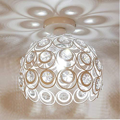 Plafonnier Moderne Industriel Luminaire en Métal, Suspensions Lustres Abat-Jour Blanc Lampe de plafond E27 éclairage Décoration (26cm)