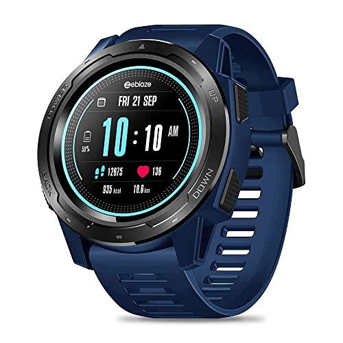 XYG Zeblaze Vibe 5 Android iOS Monitor de ritmo cardíaco completo pantalla redonda reloj inteligente (Color: azul) (Color: Azul)
