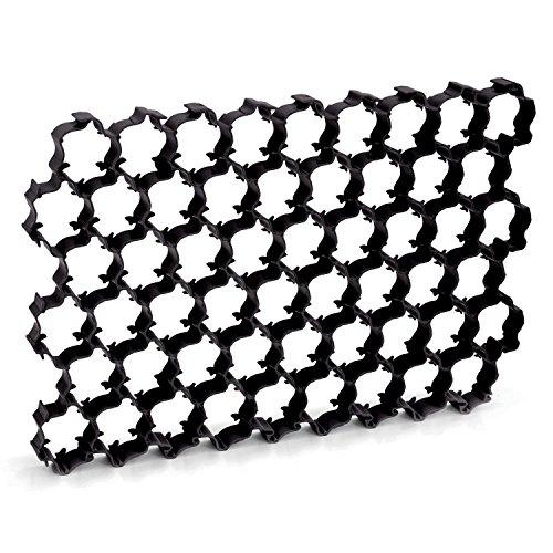 Dalle à gazon noire, 1,1m², dalle pour paddock, dalle pour gazon et gravier