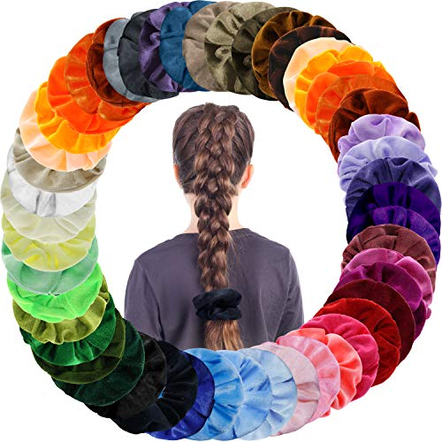 50 Colores Velvet Elástico Hair Scrunchies, Scrunchies Velvet Elastic Pelo Bandas, Scrunchies Terciopelo Para Mujeres Niñas Accesorios Para El Cabello