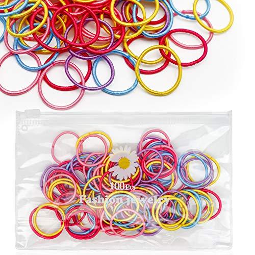 100 Pcs Elastics Hair Bands Ties...