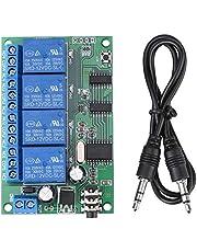 Decodificador de señal Relé AD22B04 12V 4 canales DTMF Tono Teléfono Control remoto PLC