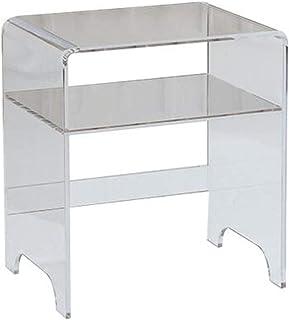 Jcnfa-Tables Table de Chevet de la Chambre à Coucher, Petite Table Basse avec tiroirs, Table latérale Acrylique, Armoire l...