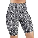 Mode Femme Shorts de Sport, Eté Fitness Pantalon Grande Taille Pas Cher Pantalons Courtes de Yoga avec Poche Latérale Taille Haute Legging Sport, Casual Faire des Exercices Leggings Femmes Jambières