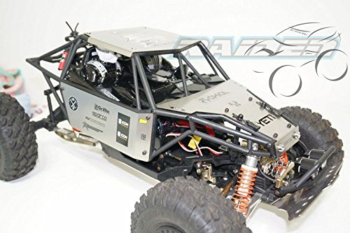 Raiden 1/10 Axial YETI 90025 90026 Stainless Steel Roof Top + Hood + Side Body Panel Silver