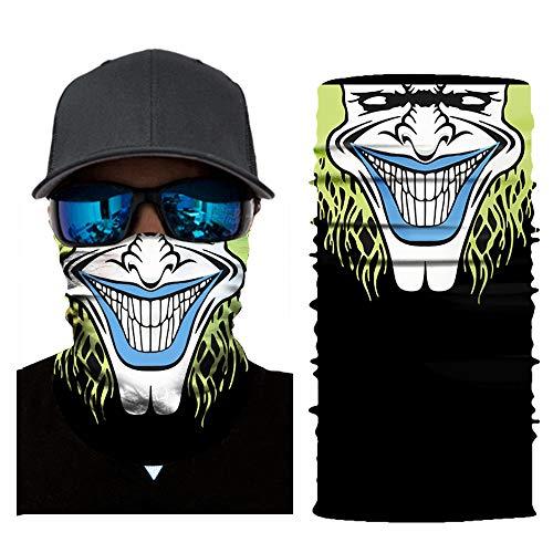 Fghyh Radfahren Motorrad Neck Tube Winddichte Multifunktionaler Schlauchschal Outdoor-Stirnbänder Skischal Gesicht Sturmhaube Halloween Party (E)