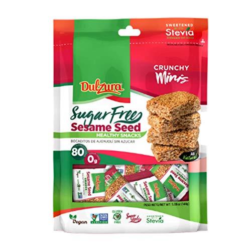 Dulzura Sesame Seed Healthy Sugar Free Mini Snack Bars, Sweetened with Stevia, 5.08 Ounce (Pack of 1)