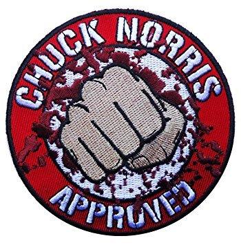 """""""Chuck Norris""""-Marken-Aufnäher bestickt zum Aufbügeln / Aufnähen von Blood Fist Kung Fu Walker Texas Ranger"""