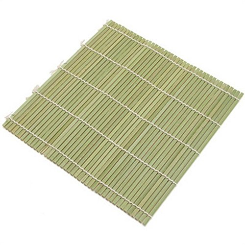 JapanBargain 3155, Bamboo Sushi Roller Mat Bamboo Sushi Rolling Mat Maker 9.5 inch Square