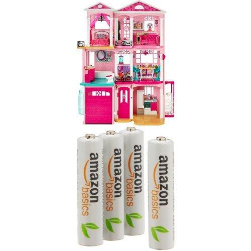 Barbie - Casa Dei Sogni con 4 Pile Ricaricabili AmazonBasics