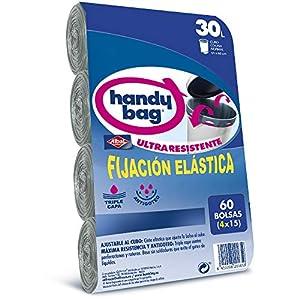 Handy Bag Bolsas de Basura 30L, Ultra Resistentes, No gotean, 60 Bolsas