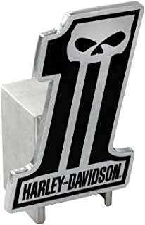 Harley-Davidson #1 Logo Skull w/Script Willie G Skull Metal Tow Ball Trailer Hitch Cover