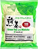 Maeda Sen-cha Green Tea With Matcha Tea Bags, 100-Count