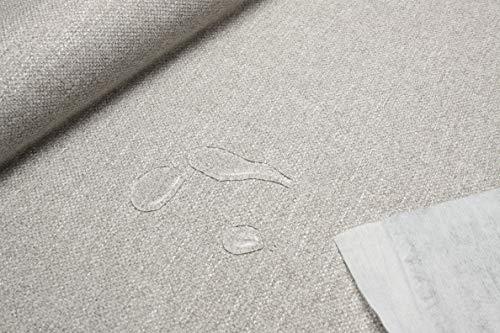Escalano Möbelstoff Wasserfest Bezugsstoff Polsterstoff für Stuhl Eckbank Sofa Hussen Stoff (27 Farben) (Mittelbeige-Br.138cm)