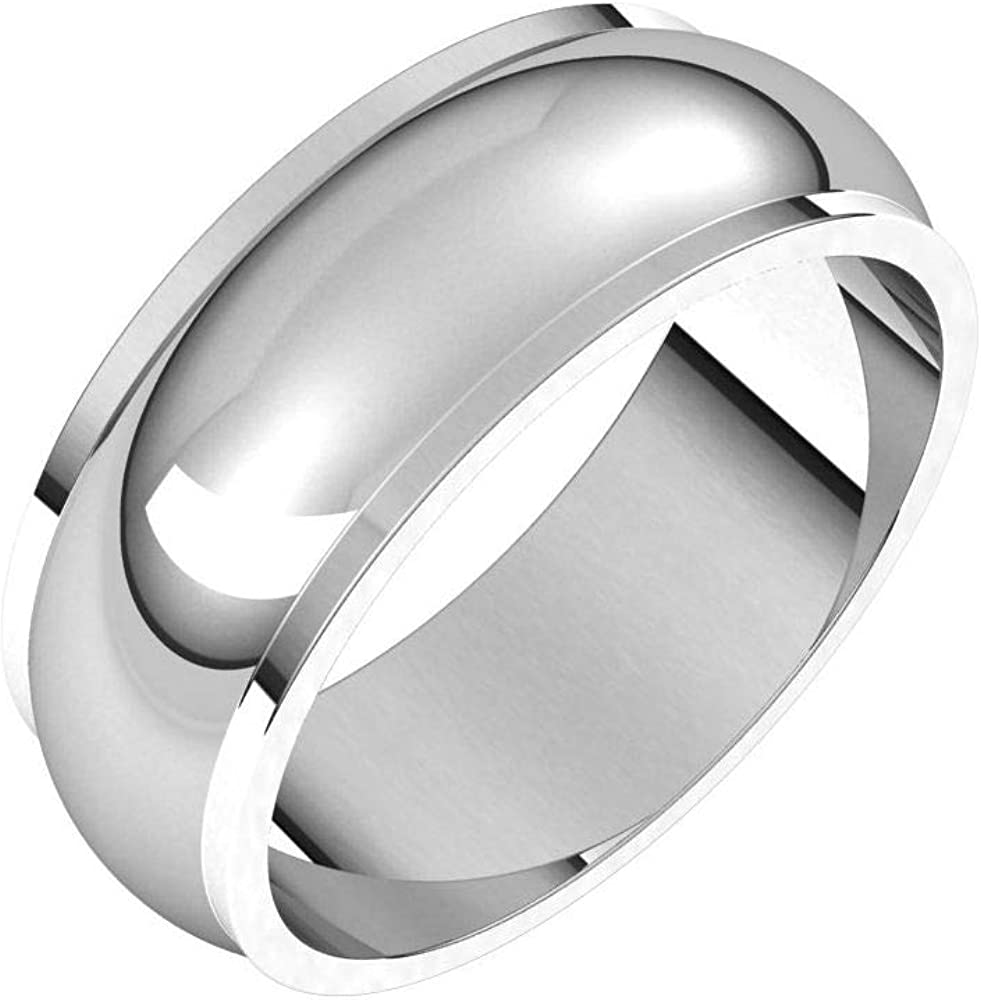 Tarnish Resistant 100% Max 69% OFF quality warranty Solid 925 Sterling Silver Edge 7mm Weddin Step