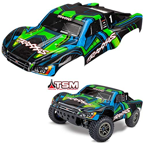 Traxxas TRA6844X Body, Slash 4X4, Green and Blue (Painted, Decals Applied)
