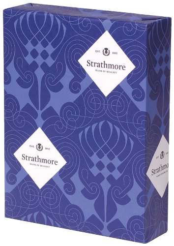 Strathmore Writing 25% Cotton Stationery Paper Wove Finish Natural White Shade Watermarked, 24 lb 8.5x11 Inch 500 Sheets/Ream - Sold as 1 Ream (300033)