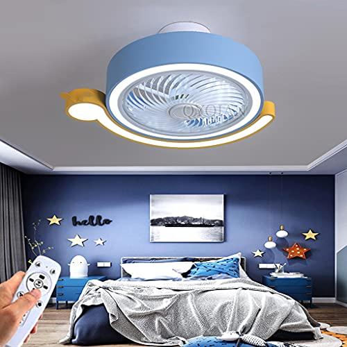 Ventilador De Techo Invisible Con Ventilador De Iluminación LED Lámpara De Techo De Acrílico De Dibujos Animados Regulable Y 3 Velocidades Silencioso Para Niños Para Sala De Estar Dormitorio De Hotel