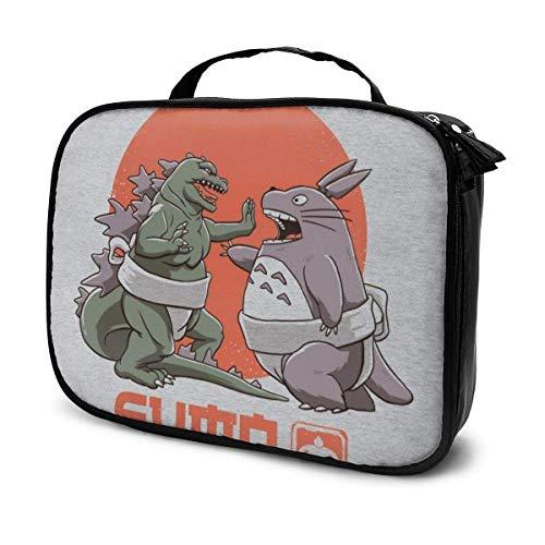 Makeup Bag Cosmetic Pouch Godzilla Totoro Sumo Pop Multi-Functional Bag Travel Kit
