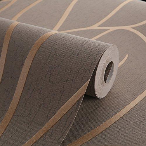 Moderne Minimalistische Tapete Tv Hintergrund Wand Vlies Tapete Umweltfreundliche Tapete 0.53m X 10m braun