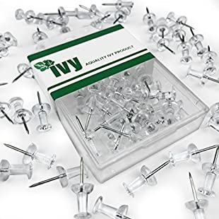 Ivy Stationery - Clear Push Pins Map Pins- Pack of 40 - 7mm Plastic Head:Donald-trump