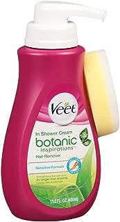 Veet Botanic In Shower Cream Hair Remover 13.5 Ounce Pump (399ml) (3 Pack)