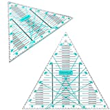 Not Overpriced, Right Triangle 8' Quilting Ruler Template, Laser Cut Made, High Definition Lines and Numbers for Easy Precision Cutting. by Vallenwood. (8' Triangular)
