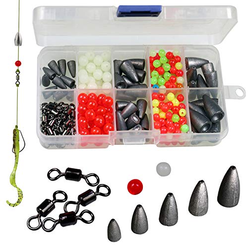 Thkfish Texas et Carolina Pêche Rig, 389pcs Bass...