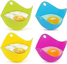 Moldes de silicona para escalfar huevos, utensilios de cocina para microondas, cacerola o vaporizador 4 piezas