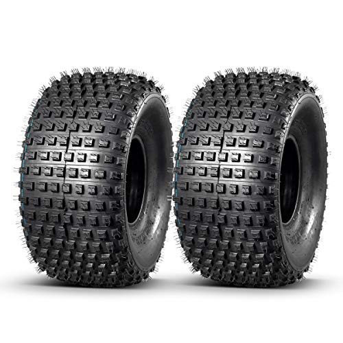 MaxAuto 2PCS ATV Tires 25x12-9 305/65-9 for Gator Off-Road Tires 25x12x9 ATV UTV All-Terrain Mud Sand Turf Trail Tires 4 Ply Tubeless